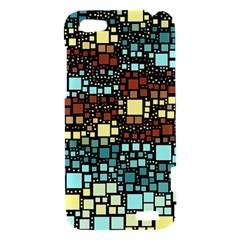 Block On Block, Aqua HTC One V Hardshell Case