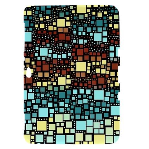 Block On Block, Aqua Samsung Galaxy Tab 8.9  P7300 Hardshell Case