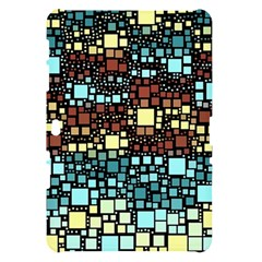 Block On Block, Aqua Samsung Galaxy Tab 10.1  P7500 Hardshell Case