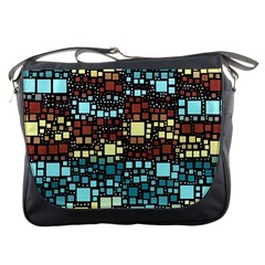Block On Block, Aqua Messenger Bags