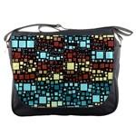 Block On Block, Aqua Messenger Bags Front