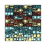 Block On Block, Aqua Acrylic Tangram Puzzle (6  x 6 ) Front