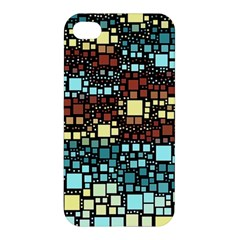 Block On Block, Aqua Apple iPhone 4/4S Premium Hardshell Case