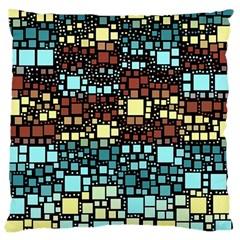 Block On Block, Aqua Large Cushion Case (Two Sides)