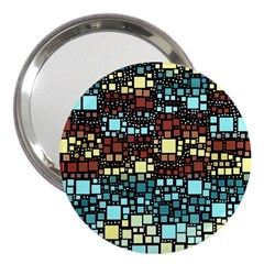 Block On Block, Aqua 3  Handbag Mirrors