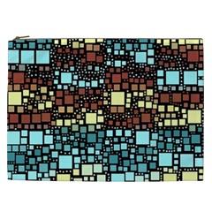 Block On Block, Aqua Cosmetic Bag (xxl)