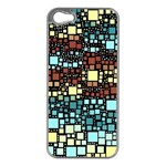 Block On Block, Aqua Apple iPhone 5 Case (Silver) Front