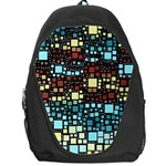 Block On Block, Aqua Backpack Bag Front