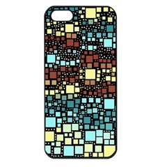 Block On Block, Aqua Apple Iphone 5 Seamless Case (black)