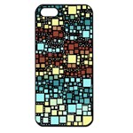 Block On Block, Aqua Apple iPhone 5 Seamless Case (Black) Front