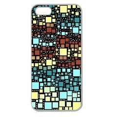Block On Block, Aqua Apple Seamless iPhone 5 Case (Clear)
