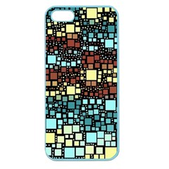 Block On Block, Aqua Apple Seamless iPhone 5 Case (Color)