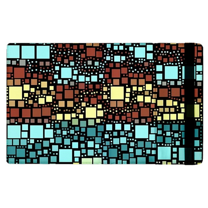 Block On Block, Aqua Apple iPad 2 Flip Case