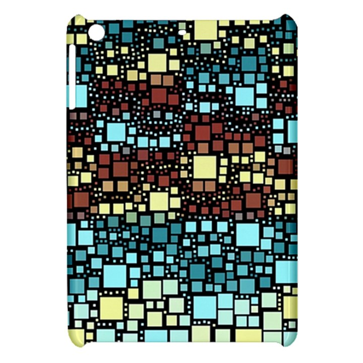 Block On Block, Aqua Apple iPad Mini Hardshell Case