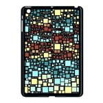 Block On Block, Aqua Apple iPad Mini Case (Black) Front