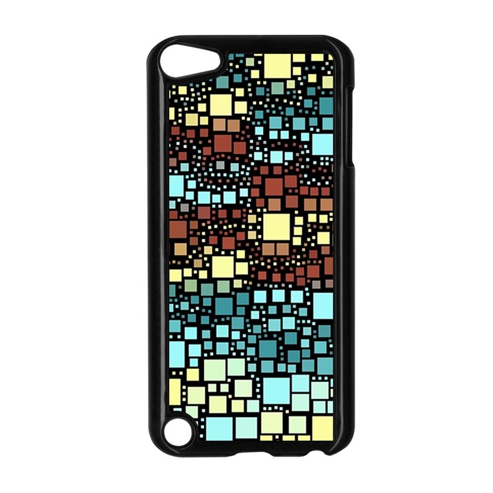 Block On Block, Aqua Apple iPod Touch 5 Case (Black)