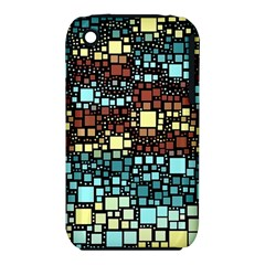Block On Block, Aqua Apple Iphone 3g/3gs Hardshell Case (pc+silicone)