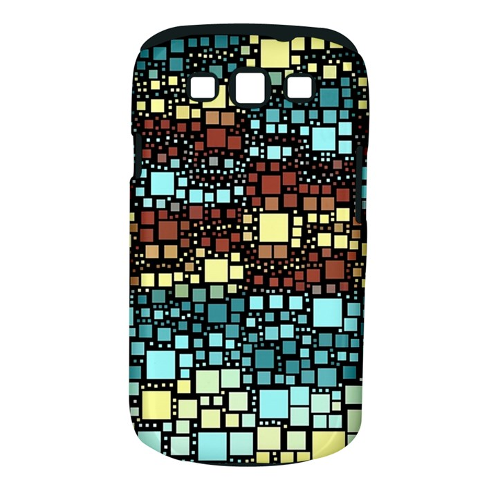 Block On Block, Aqua Samsung Galaxy S III Classic Hardshell Case (PC+Silicone)