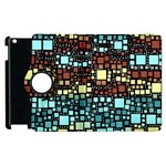 Block On Block, Aqua Apple iPad 2 Flip 360 Case Front