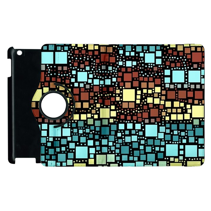 Block On Block, Aqua Apple iPad 2 Flip 360 Case