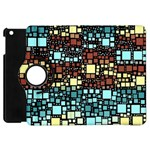 Block On Block, Aqua Apple iPad Mini Flip 360 Case Front