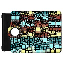 Block On Block, Aqua Kindle Fire HD Flip 360 Case