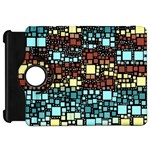 Block On Block, Aqua Kindle Fire HD Flip 360 Case Front