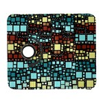 Block On Block, Aqua Samsung Galaxy S  III Flip 360 Case Front