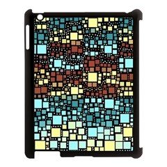 Block On Block, Aqua Apple Ipad 3/4 Case (black)