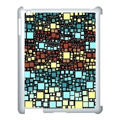 Block On Block, Aqua Apple Ipad 3/4 Case (white)
