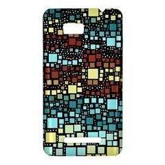 Block On Block, Aqua HTC One SU T528W Hardshell Case