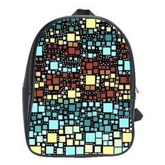 Block On Block, Aqua School Bags (XL)