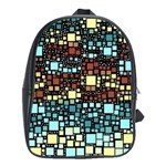 Block On Block, Aqua School Bags (XL)  Front