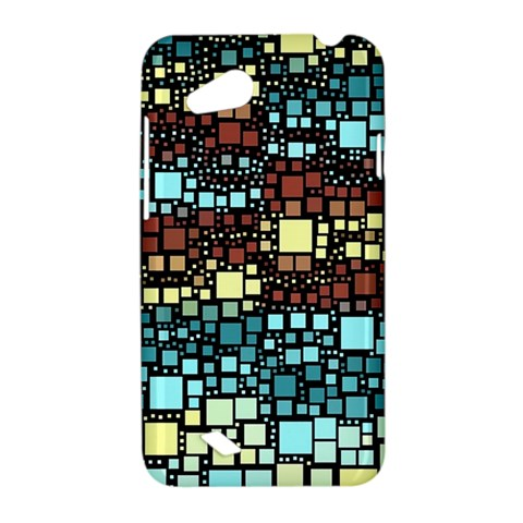Block On Block, Aqua HTC Desire VC (T328D) Hardshell Case