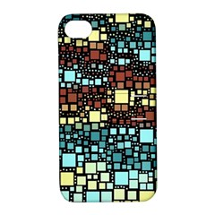 Block On Block, Aqua Apple iPhone 4/4S Hardshell Case with Stand