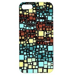 Block On Block, Aqua Apple iPhone 5 Hardshell Case with Stand