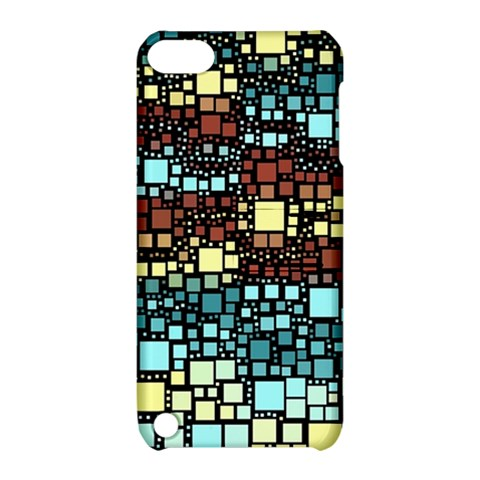 Block On Block, Aqua Apple iPod Touch 5 Hardshell Case with Stand