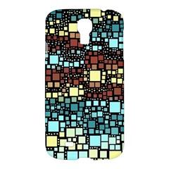 Block On Block, Aqua Samsung Galaxy S4 I9500/I9505 Hardshell Case
