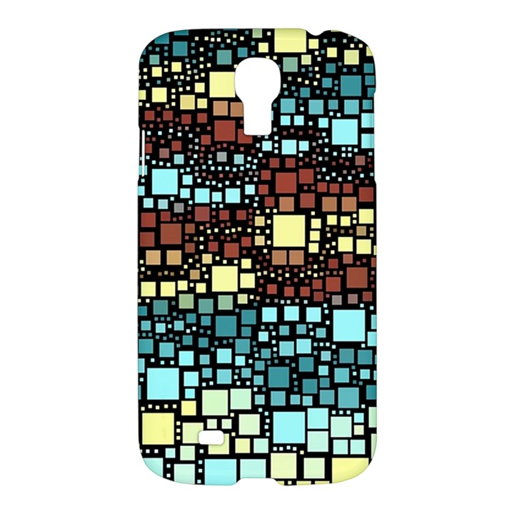 Block On Block, Aqua Samsung Galaxy S4 I9500/I9505 Hardshell Case