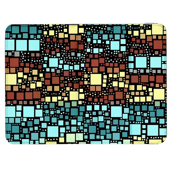Block On Block, Aqua Samsung Galaxy Tab 7  P1000 Flip Case