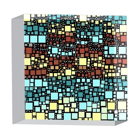 Block On Block, Aqua 5  x 5  Acrylic Photo Blocks