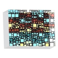 Block On Block, Aqua 5 x 7  Acrylic Photo Blocks