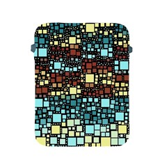 Block On Block, Aqua Apple Ipad 2/3/4 Protective Soft Cases