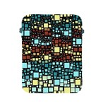 Block On Block, Aqua Apple iPad 2/3/4 Protective Soft Cases Front