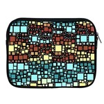 Block On Block, Aqua Apple iPad 2/3/4 Zipper Cases Front