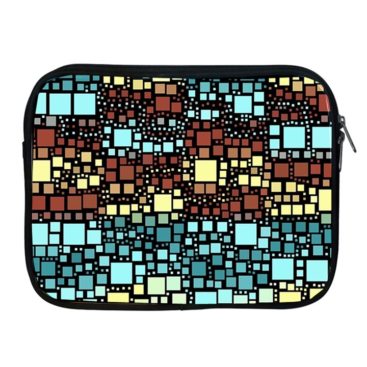 Block On Block, Aqua Apple iPad 2/3/4 Zipper Cases