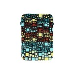 Block On Block, Aqua Apple iPad Mini Protective Soft Cases Front