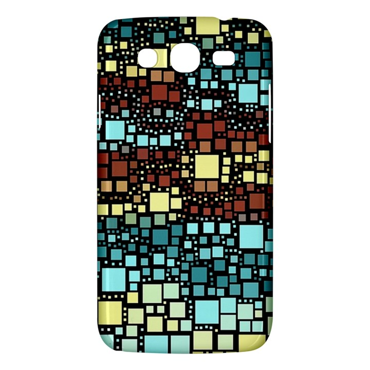 Block On Block, Aqua Samsung Galaxy Mega 5.8 I9152 Hardshell Case