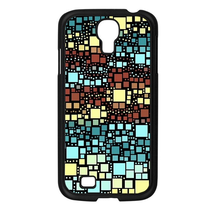 Block On Block, Aqua Samsung Galaxy S4 I9500/ I9505 Case (Black)