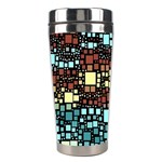 Block On Block, Aqua Stainless Steel Travel Tumblers Center
